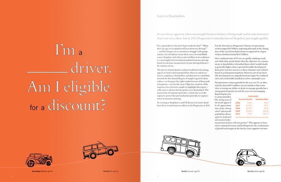 progressive corporation 2011 annual report graphis rh graphis com