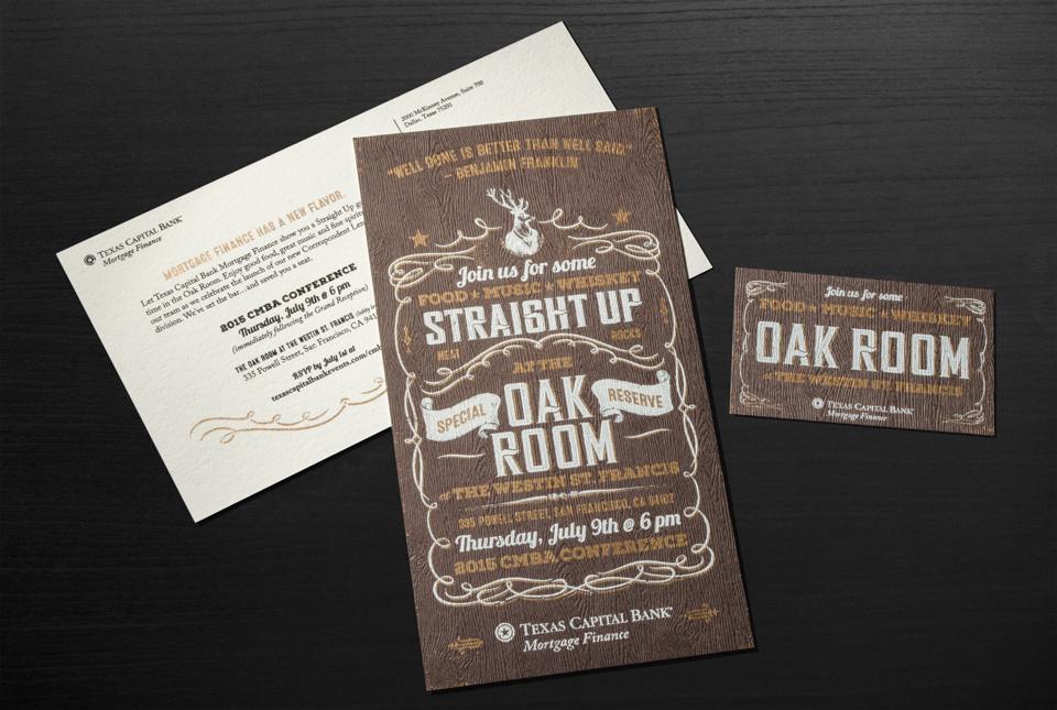 Oak Room Whiskey Tasting Graphis