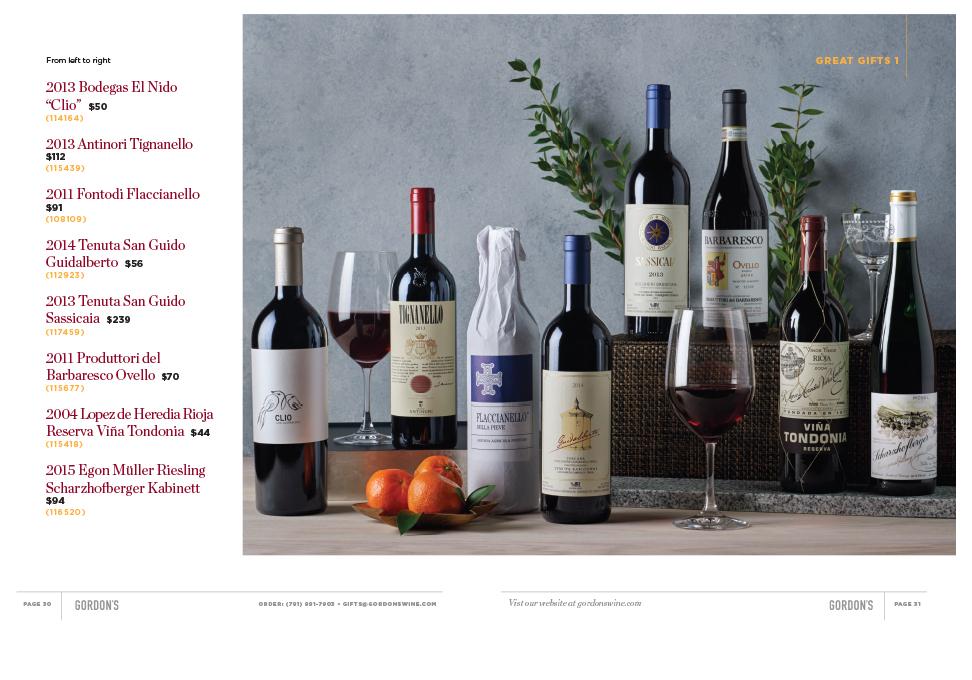 wines and spirits price list