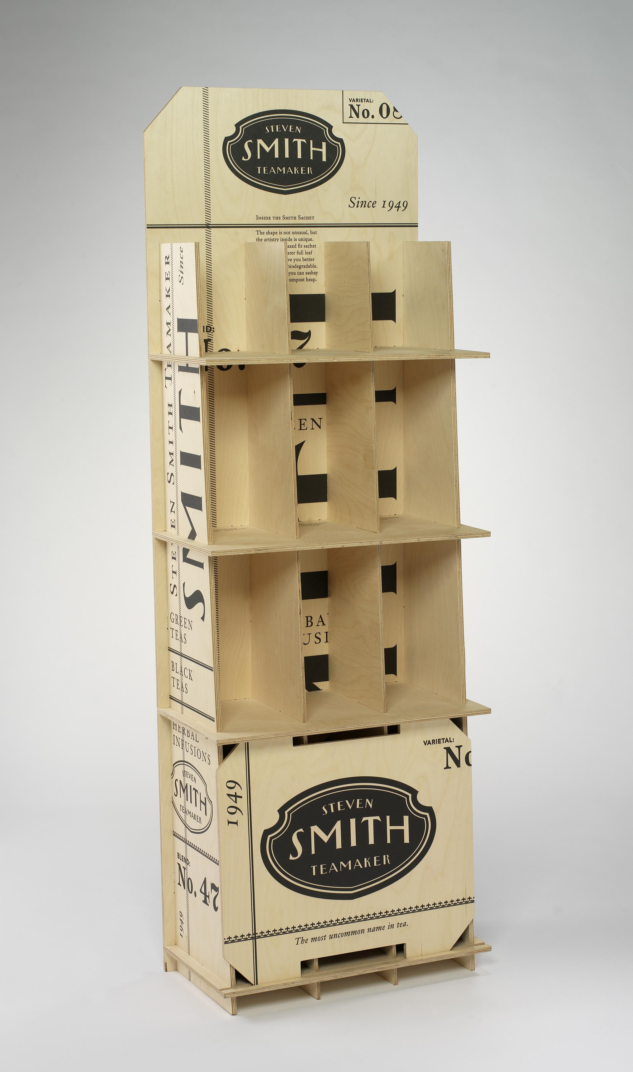 steven smith teamaker wooden floor display graphis