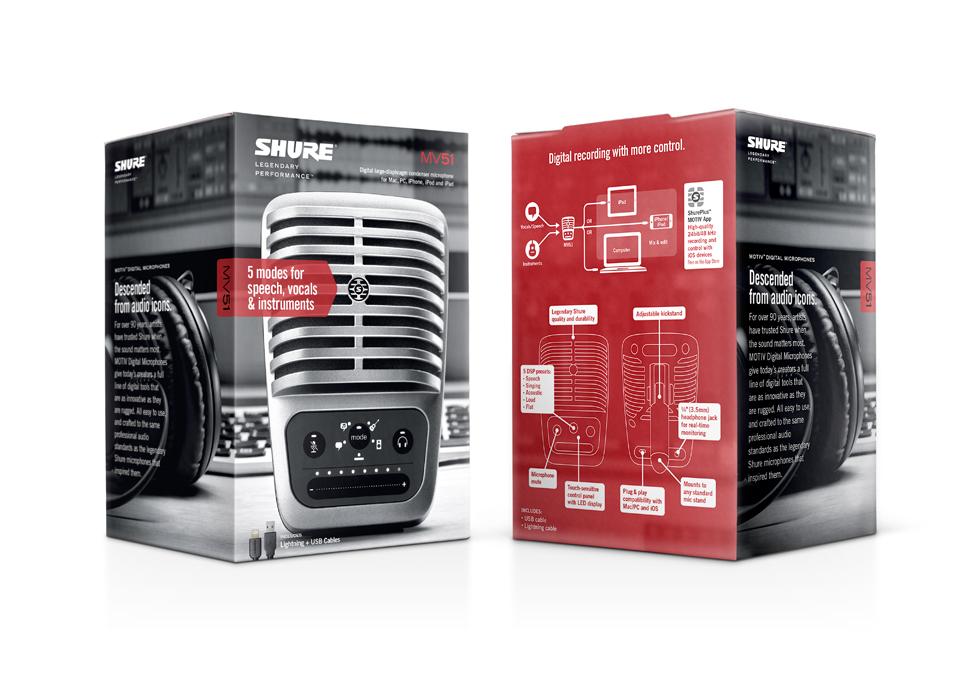 Shure MOTIV Digital Microphone Packaging - Graphis