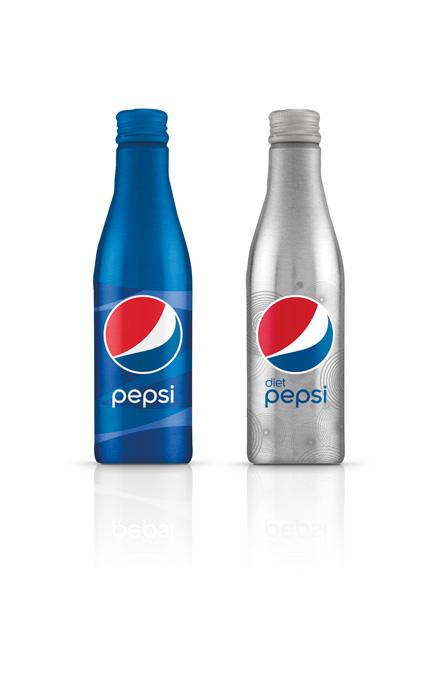 Premium Pepsi Aluminum Bottle Graphis