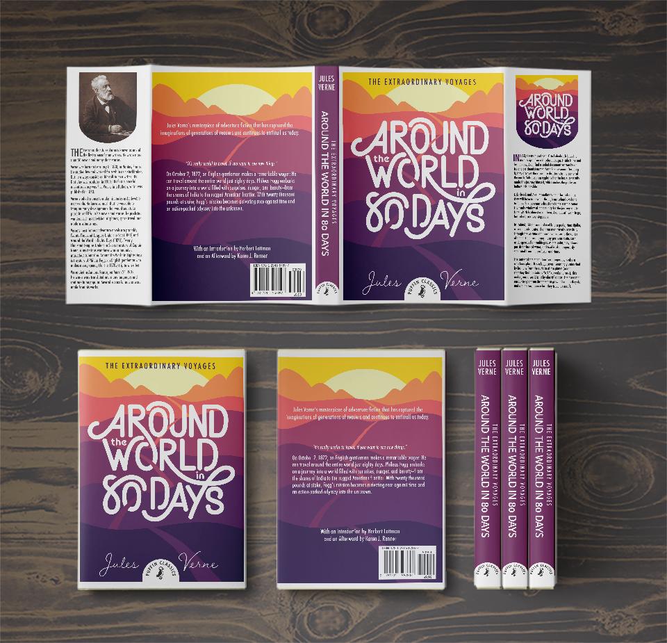 School Bookcover Design: Jules Verne Bookcover Series