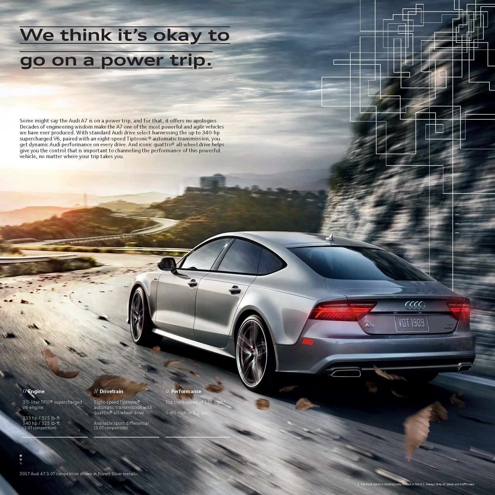 2017 Audi A7 Brochure