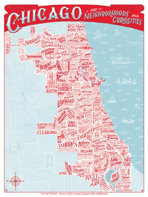 Chicago Map Of Neighborhoods Curiosities Graphis