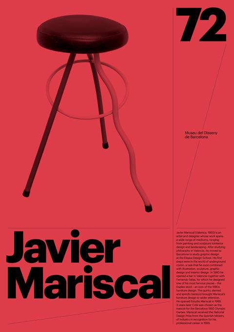 Furniture Design Poster barcelona design museum poster series - graphis
