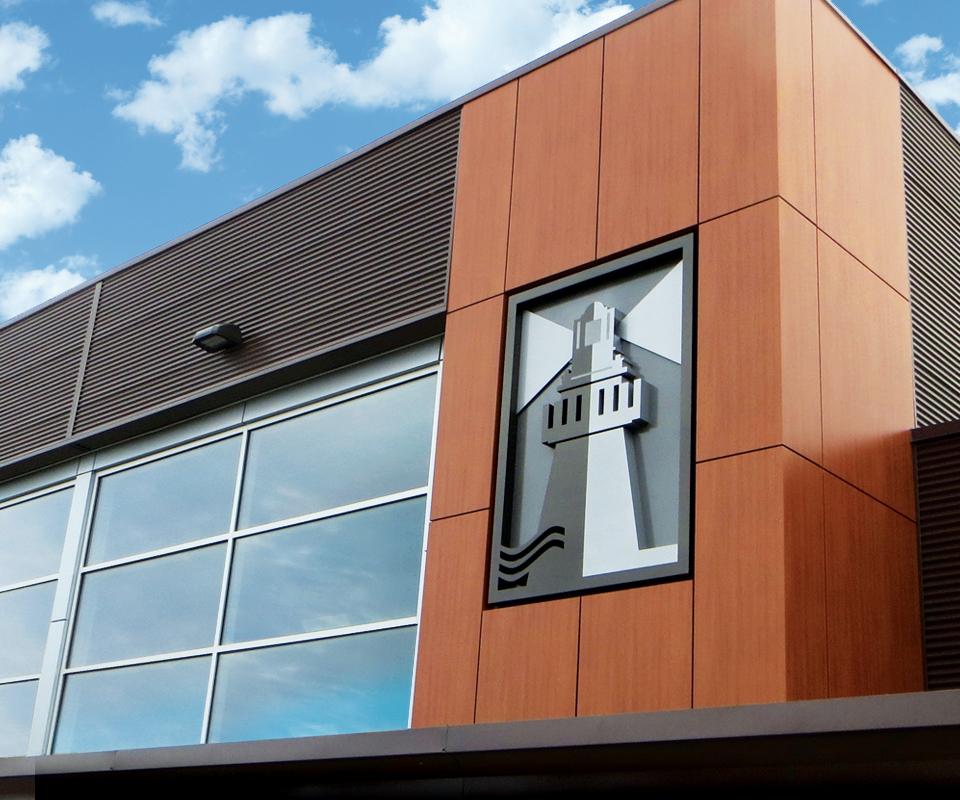 Oakville christian school exterior sign graphis for Exterior design school
