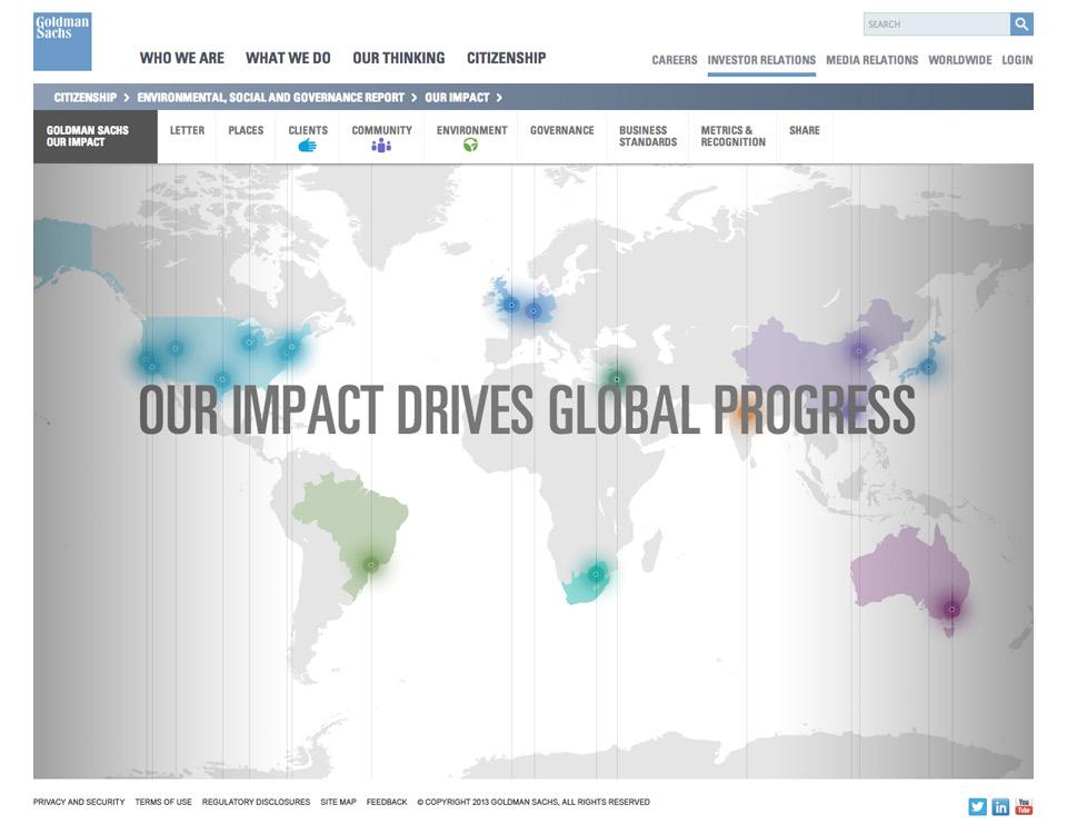 2013 Goldman Sachs Environmental, Social & Governance Impact ... on